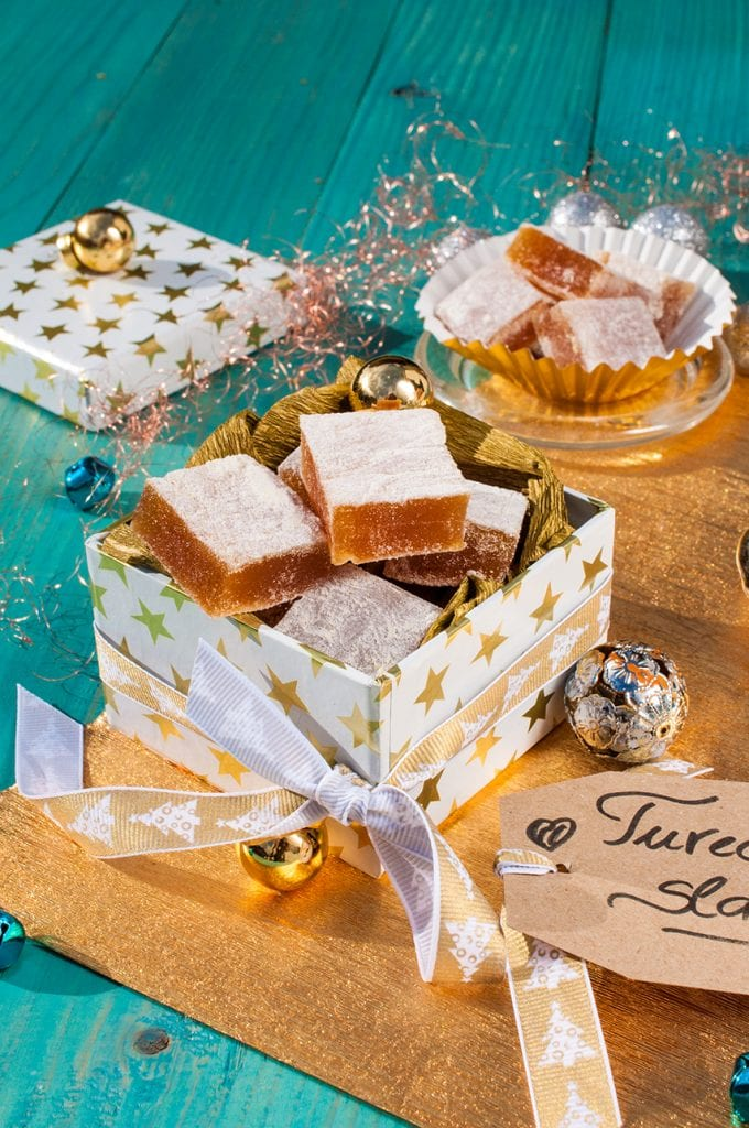 Domáce želé cukríky v štýle Turkish delight