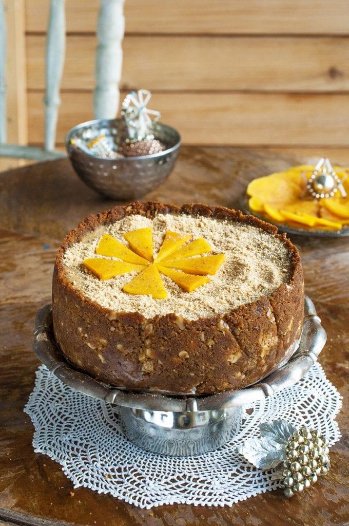 Recept na vianočný tekvicový cheesecake