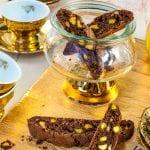 Čokoládové keksíky s pistáciami