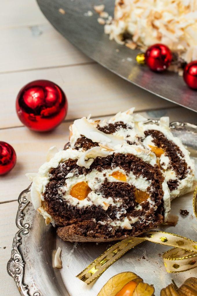 čokoládovo - kokosová roláda