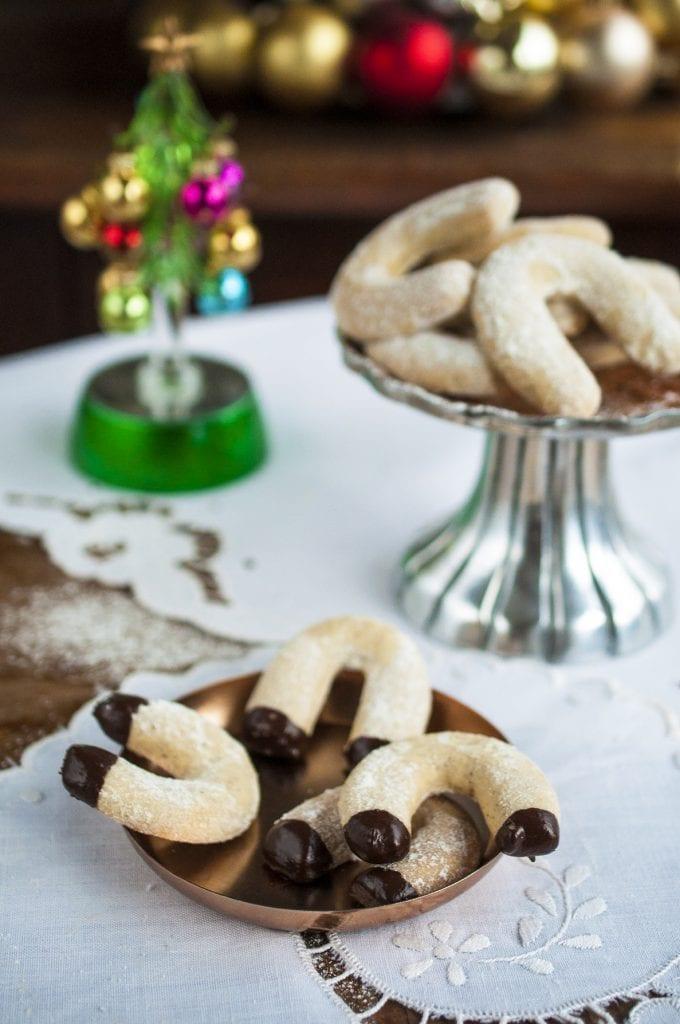 vanilkové rožky od mamičky s čokoládou