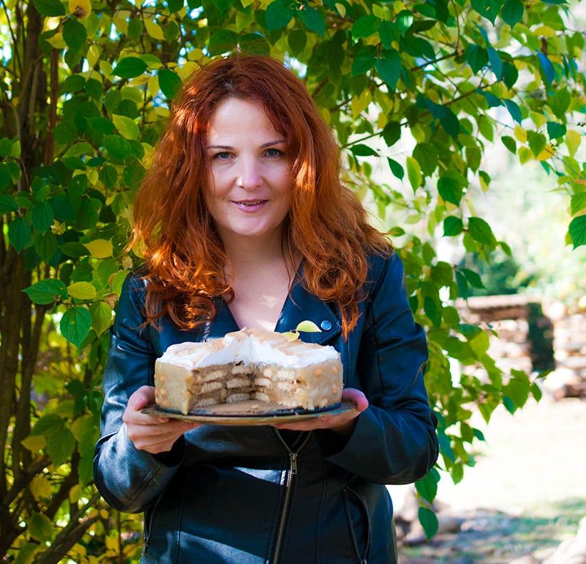 Moja najobľúbenejšia pudingová jablková torta