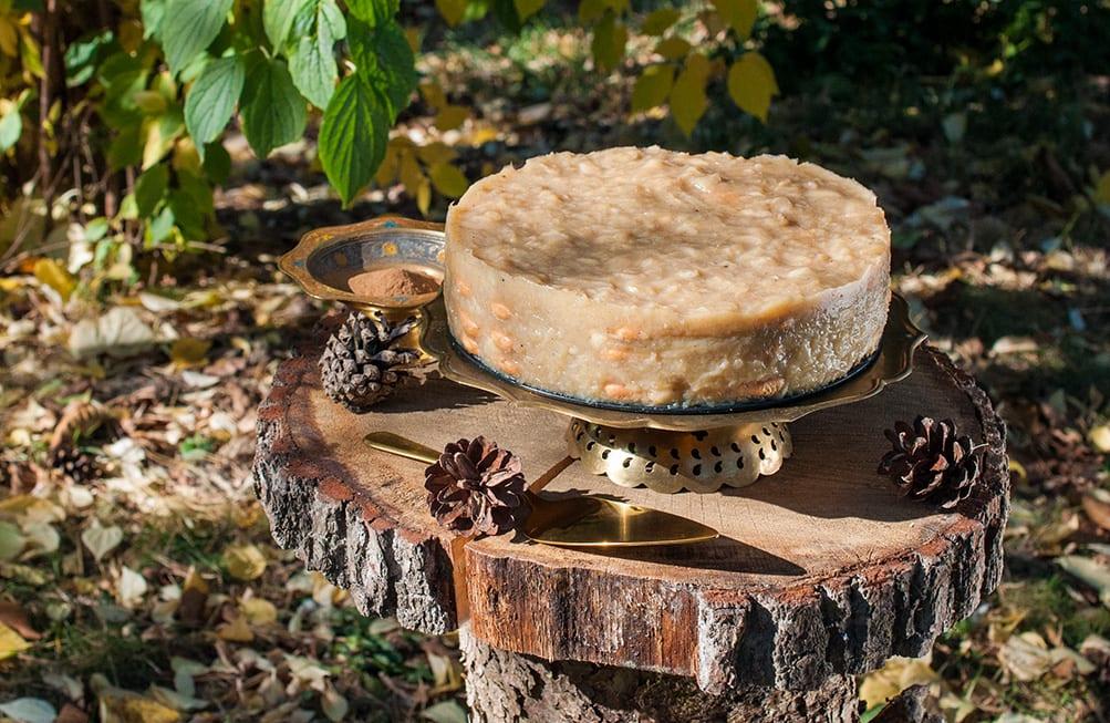 Vychladená píškótová jablková torta