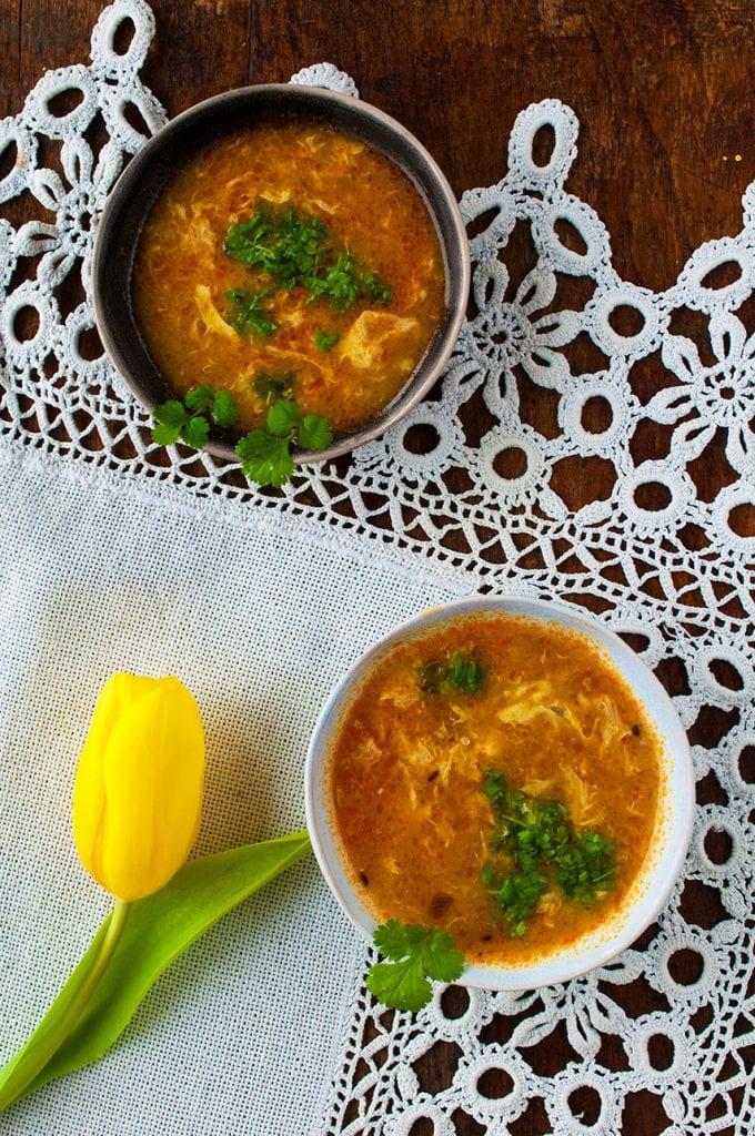 Vanikajúca vajíčková polievka na zahriatie