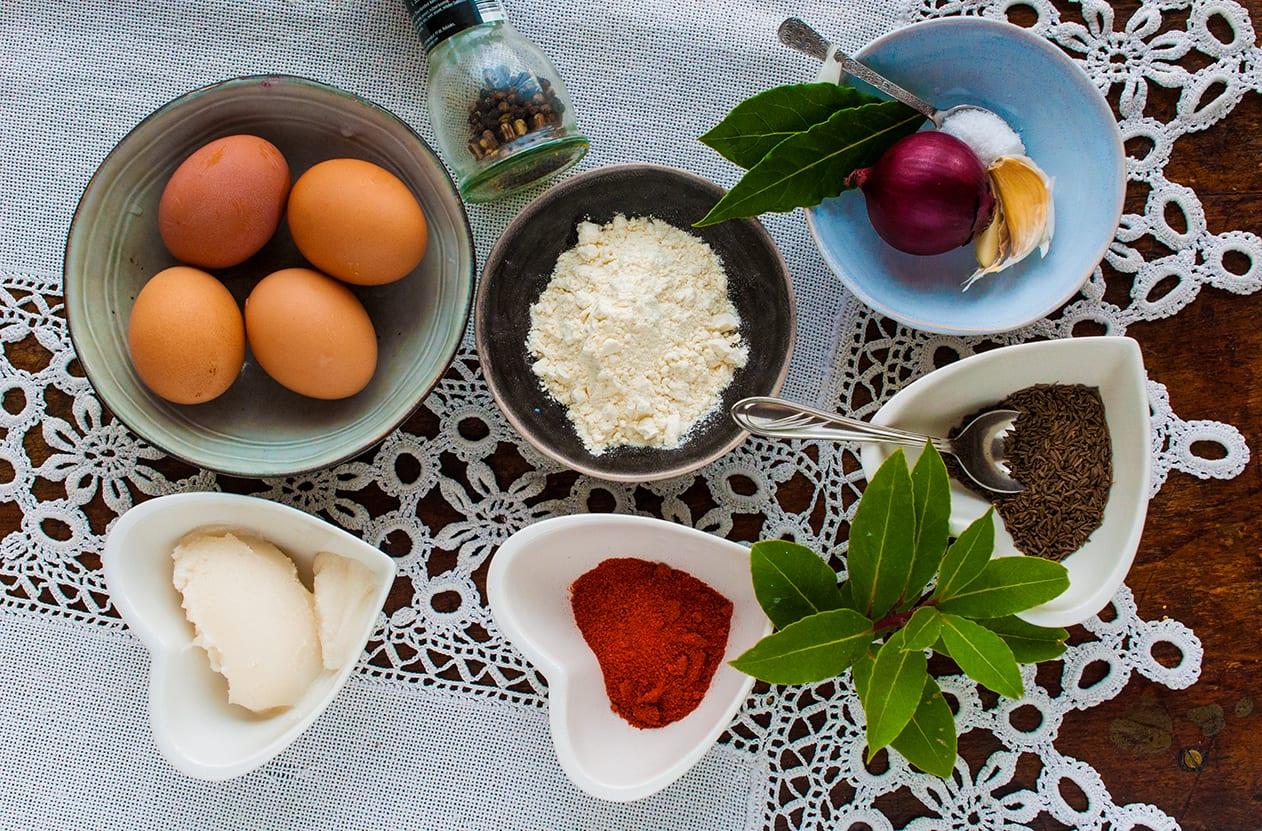Ingrediencie na vajíčovú polievku