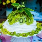 Pravá Pavlovovej torta s kivi