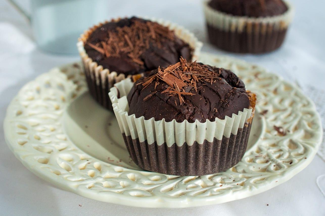 čokoládové muffiny s medom