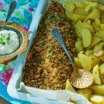 Pstruh s bylinkovovu krustou recept
