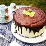 čokoládová dvojfarebná torta