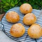 domáce kváskové hamburger žemle
