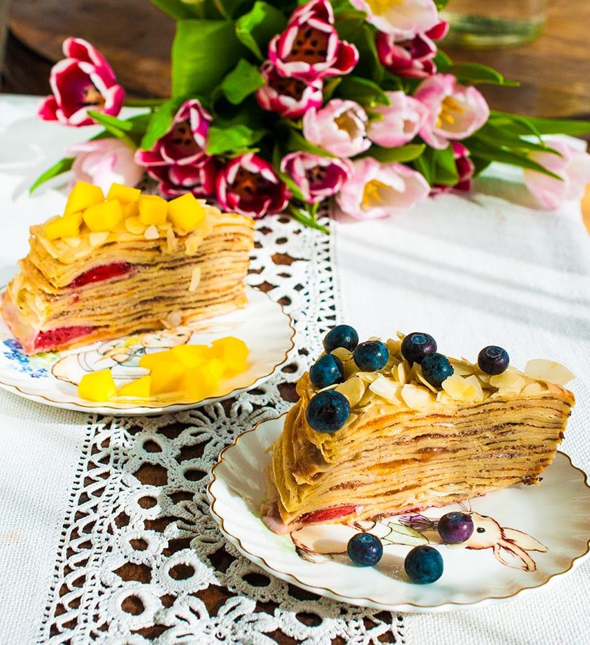 recept na palacinkovú tortu