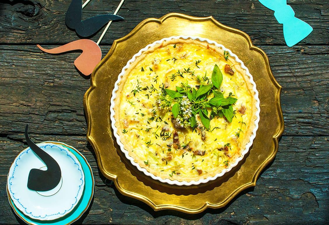 pravý francúzsky slaný quiche recept