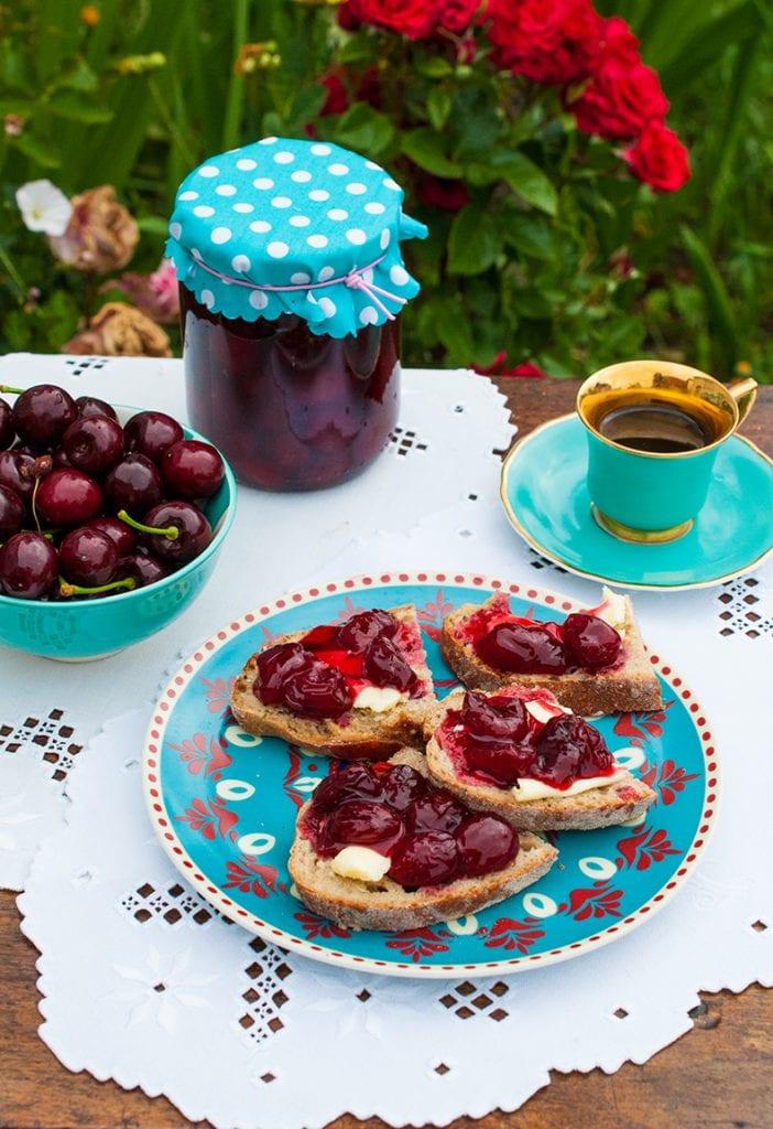 Čerešňový džem: príprava, foodstyling, foto: Jana Štrbková