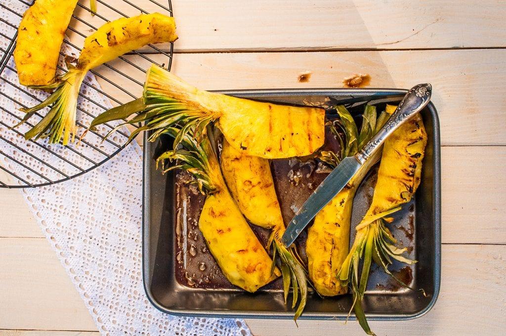 grilovaný ananás recept