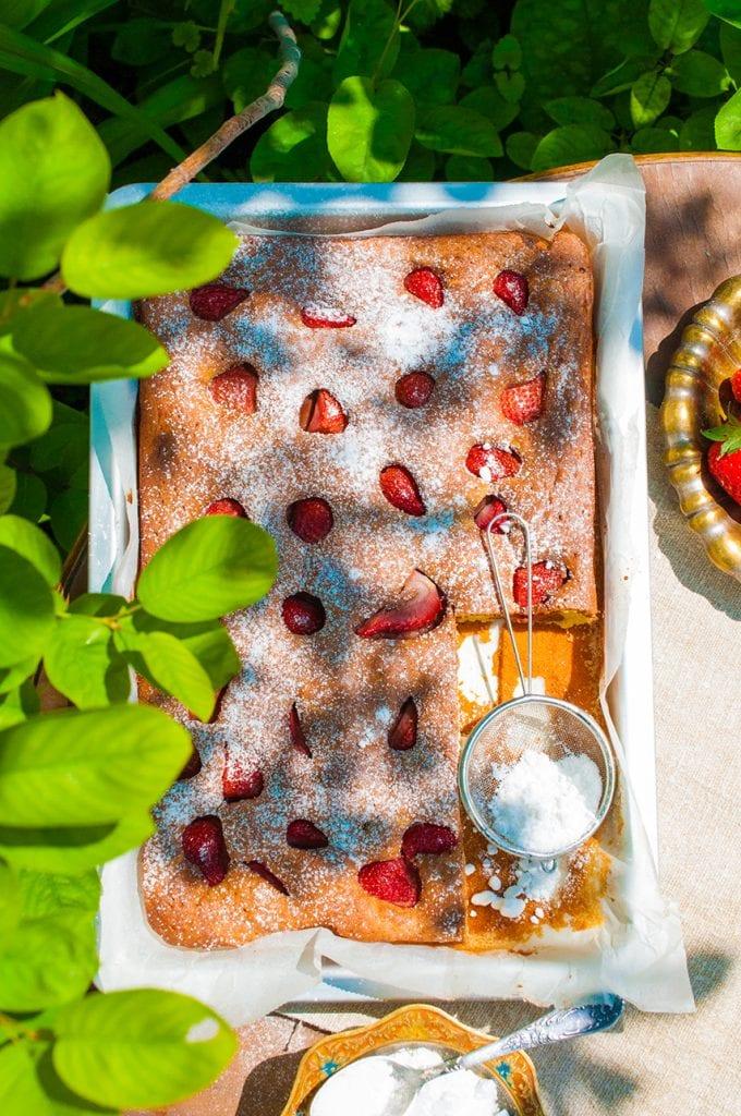 jahodová bublanina recept