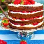 jahodová torta s mascarpone