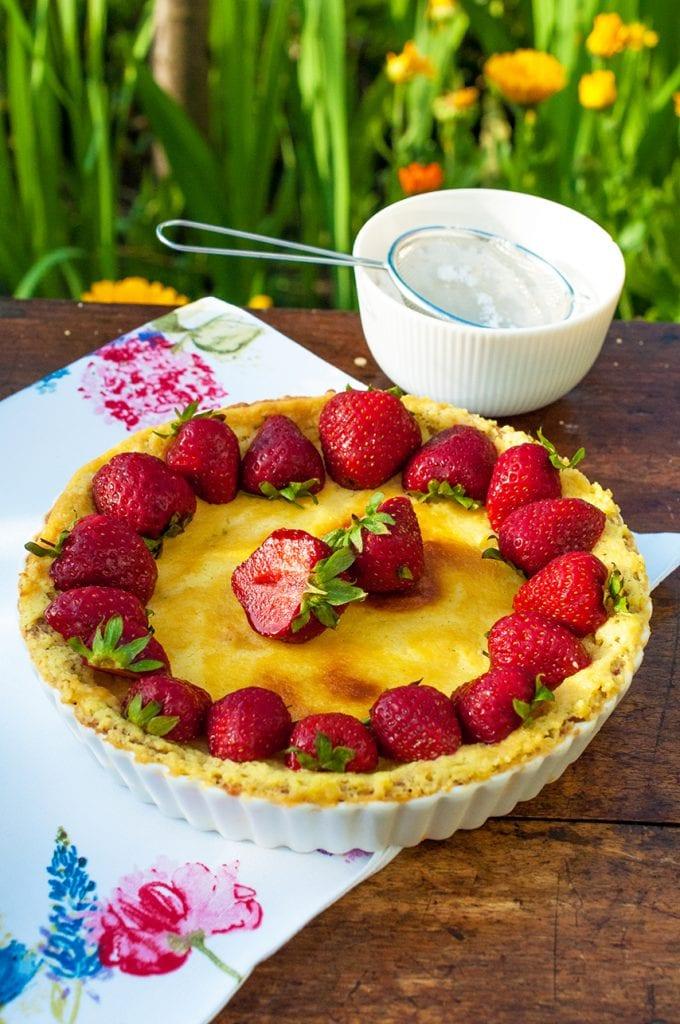 jahodový tart s citrónovým krémom recept