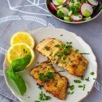 Kaprie filety na masle, rasci a bylinkách recept