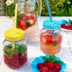jahodová a malinová limonáda