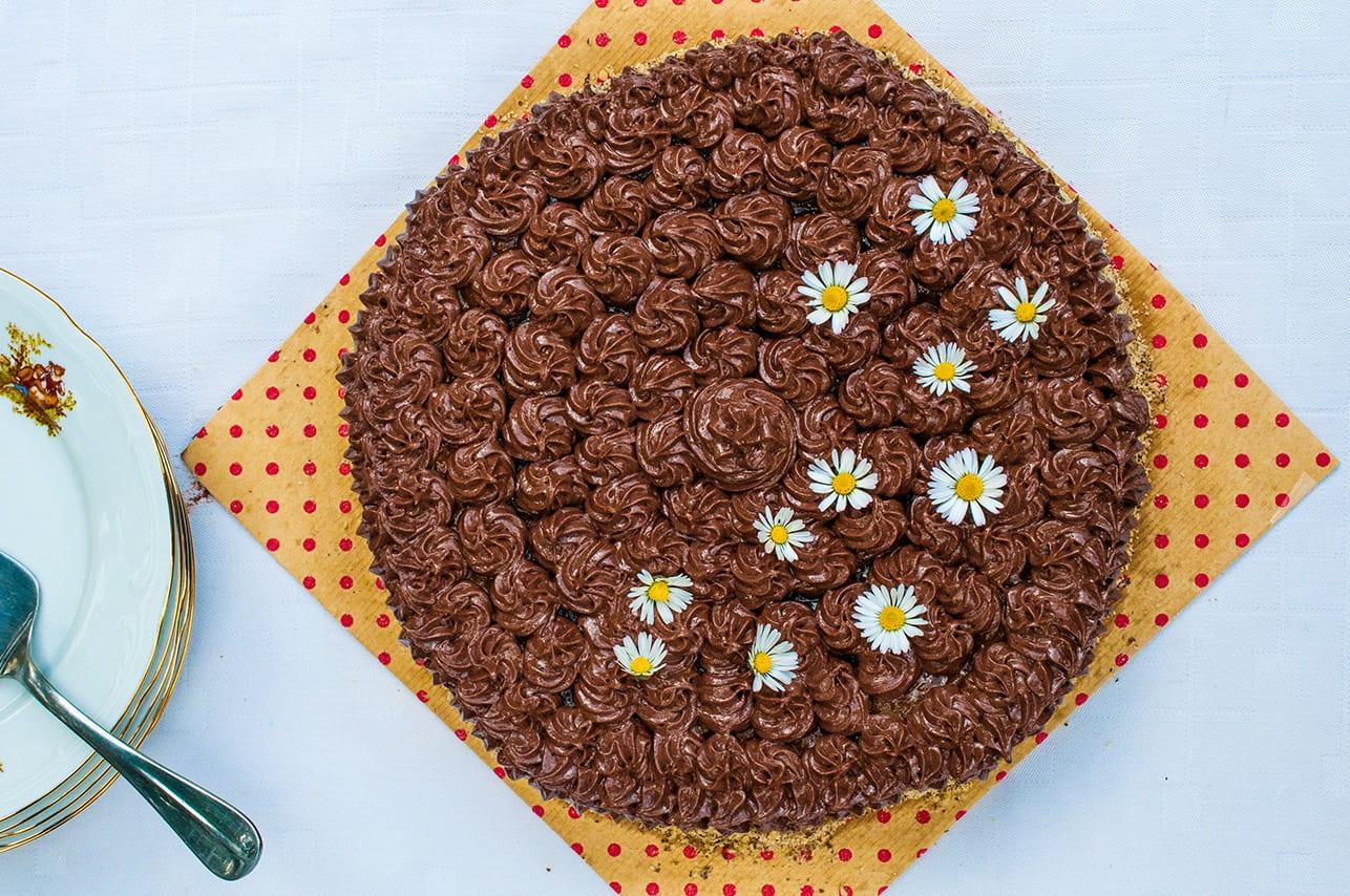 orechová torta recept