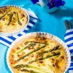 špargľový quiche recept