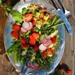 špargľový šalát s quinoou