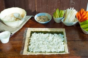 zeleninové sushi fotorecept