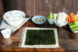 fotorecept na prípravu sushi