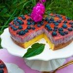 čučoriedková torta s tvarohom a želatínou