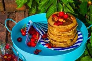 čerešňové lievance s kefírom recept