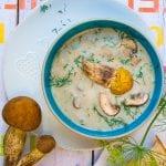 dubáková krémová polievka recept
