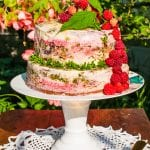 melinová torta s bazalkovým cukrom recept