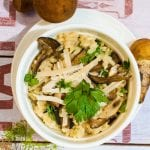 Tallianske krémové hubové rizoto recept