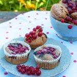 medové muffiny s kakaom a ovocím