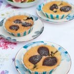 brumík čokoládové muffiny s čučoriedkami