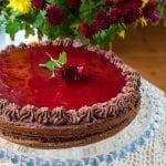 čokoládová torta s jahodami recept