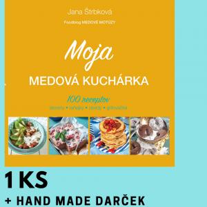 Moja medová kuchárka 1 ks + darček