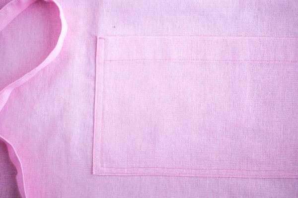 Ružová ľanová zástera